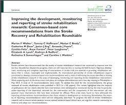 monitoring and reporting of stroke rehabilitation research consensus based core recommendations from the stroke recovery and rehabilitation roundtable