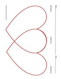 Venn Diagram Graphic Organizers Valentine Heart Shaped Venn Diagram In Color Full Page Graphic Organizer