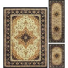 3 rug set piece ivory brown area rugs grand amazing bathroom sets menards