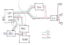 turnigy on off receiver switch rcpowers com this diagram will work a standard 3 navigation led kit how connect a external bec to get more power just use a unused plug in the rx or connect it