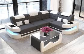 modern couch. Luxury Fabric Sofa L Shape - Microfiber Light-grey Mineva 8 Modern Couch