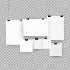 Paper Frames Templates Frames Or Poster Templates Isolated On Transparent Background