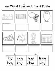 Teaching word families order is a key component of foundational spelling education. Ay Word Family Worksheets