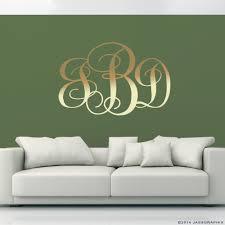 ... monogram wall decals gold ...