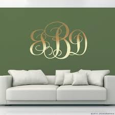 monogram wall decals gold
