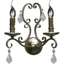 antique silver chandelier wall lights angelique range