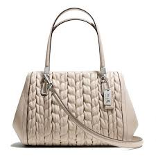 The Madison Madeline East west Satchel In Gathered Chevron Leather from  Coach