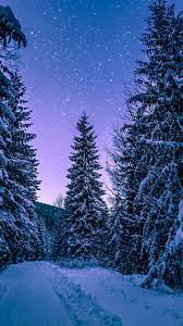 Night Snow Phone Wallpapers - Top Free ...