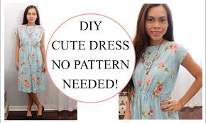Simple Dress Pattern For Beginners Inspiration How To Sew Dress Without Pattern Sewing Project For Beginners YouTube