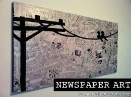 newspaper wall art diy