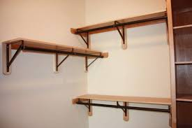 how to hang a closet rod shelves awesome wall shelf with hanging rod throughout ideas 0 how to hang a closet rod