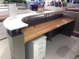 half round desk furniture round reception desk office small hair salon modern white half round salon