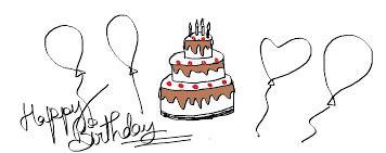 Simple Birthday Cake Drawing For Kids