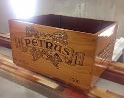 A beautifully finished high-gloss Petrus wine box