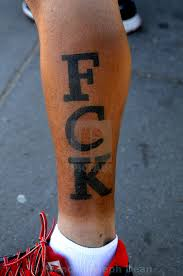 Fck Tattoo On Fans Leg In Copenhagen Denmark License Download Or