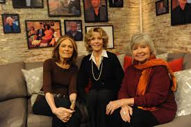 poll of words to ban feminist robin morgan responds time from left gloria steinem jane fonda and robin morgan co founders of