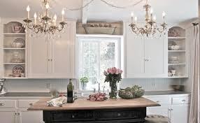 living charming white kitchen chandelier