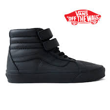 vans vans leather skating high sk8 hi reissue v monochrome velcro higher frequency elimination sneakers