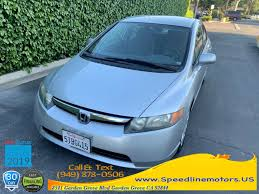 2006 honda civic sdn lx at available in garden grove