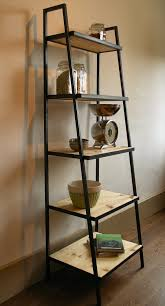 industrial style shelving. Industrial Style Ladder Shelf Unit With Shelving Decor 4