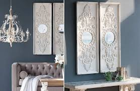 huge ornate wall panel mirror set of 2