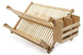 Wooden Dish Rack With Utensil Holder