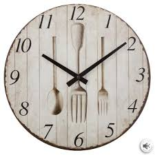 mdf wall clock coffee 28cm for