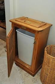 Wood Kitchen Trash Can Net Oak Wooden Trash Can Holder Ice Box Replica Wooden  Kitchen Garbage Can Plans