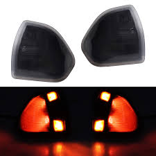 Ram 2500 Mirror Lights Hercoo Led Turn Signal Light Side Mirror Left And Right Lamps Smoke Cover Lens For 68302828aa 68302829aa Compatible With 2010 2018 Dodge Ram 1500 2500