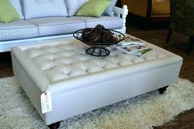 oversized ottoman coffee table 0 leather large round fabric