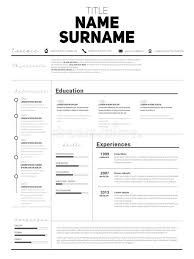 Resume Minimalist Cv Resume Template With Simple Design Compan