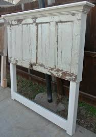 distressed old door made into a headboard by vine headboards photo by friscoshabbychic