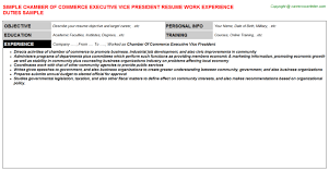 Chamber Of Commerce Executive Vice President Resume | Resumes ...