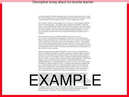 essay about my favorite teacher co essay