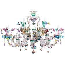 antique venetian glass 14 branch murano chandelier circa 1850 for