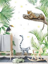 Kinderkamer Jungle Behang Mooie Fotobehang Posterbehang Posterbehang
