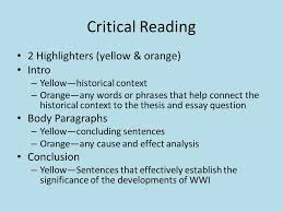 wwi essay reflection common errors introductions historical  8 critical