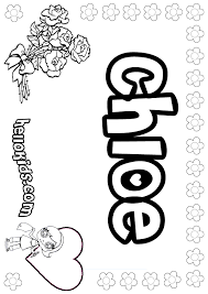 Small Picture the name chloe coloring sheets girls name coloring pages