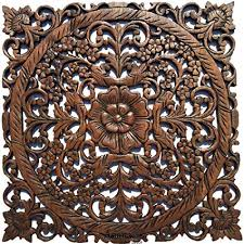 large wood wall art oriental carved wood wall decor floral wall decor asian on asian carved wood wall art with amazon large wood wall art oriental carved wood wall decor