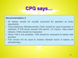 Neonatal Jaundice Reference Msia Cpg