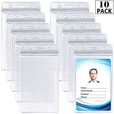 Work Identity Card Amazon Com Id Card Name Tag Badge Holder Waterproof Sealable