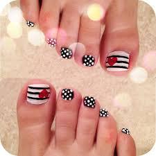 Toe Nail Art Designs 45 Best Polka Dots Toe Nail Art Design Ideas