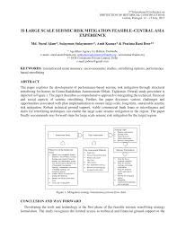 Akdn Organizational Chart Pdf Is Large Scale Seismic Risk Mitigation Feasible Central
