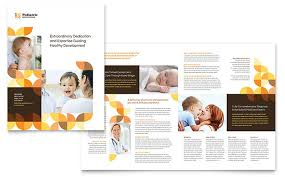 brochure template pediatric doctor brochure template design