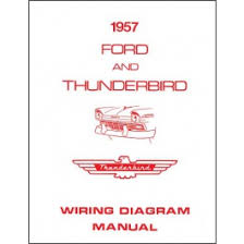 ford thunderbird wiring diagram manual, 8 pages, 1957 macs 55 ford wiring diagram at 1955 Ford Thunderbird Wiring Diagram