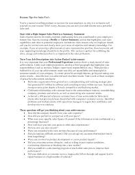 Sales Resume Summary Statement Examples 74 Images Project