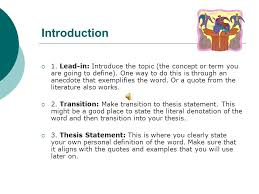 what is a definition essay ppt  introduction