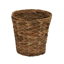 bedroom waste baskets decorative. Fine Decorative Household Essentials ML6692 Woven Water Hyacinth Wicker Waste Basket  For  Bathrooms U0026 Bedrooms Inside Bedroom Baskets Decorative W