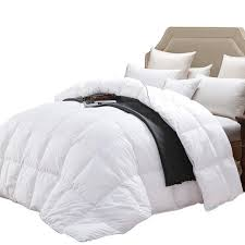 wenersi premium down comforter king size duvet insert 600tc 100 cotton cover