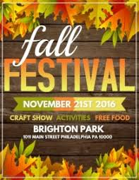Fall Festival Flyer Free Template 2 790 Customizable Design Templates For Fall Festival Postermywall